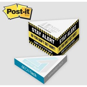 Post-it� Notes Custom Printed Slim Triangle Cube Note Pad (3 3/4